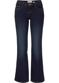 Расклешенные джинсы-стретч, cредний рост (N) (темно-синий) Bonprix