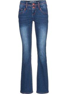 Расклешенные стрейтчевые джинсы, высокий рост (L) (синий) Bonprix