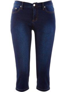 Джинсы-капри, cредний рост (N) (темно-синий) Bonprix