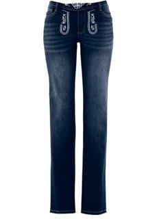 Прямые джинсы в традиционном стиле (темный деним) Bonprix