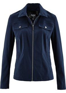 Куртка из бенгалина с эластичными вставками (темно-синий) Bonprix