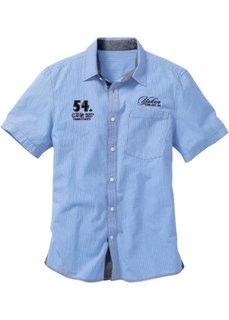 18d4c8c9c24 Рубашка Regular Fit с короткими рукавами (голубой в клетку) Bonprix