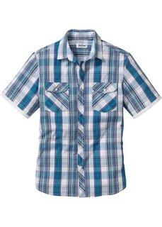 Рубашка в клетку с коротким рукавом (белый в клетку) Bonprix