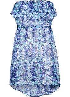 Пляжное платье в стиле бандо (синий/бирюзовый) Bonprix