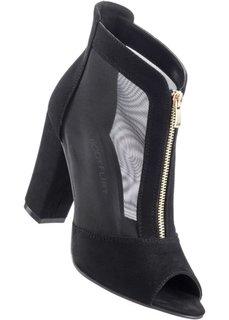 Туфли с открытым носком (черный) Bonprix