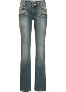 Расклешенные стретчевые джинсы, cредний рост (N) (синий) Bonprix
