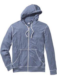Трикотажная куртка Regular Fit (меланжевый индиго) Bonprix
