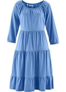 Трикотажное платье с рукавом 3/4 (голубой) Bonprix