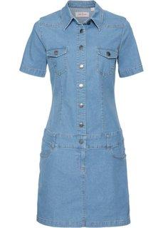 Джинсовое платье-стретч (нежно-голубой) Bonprix