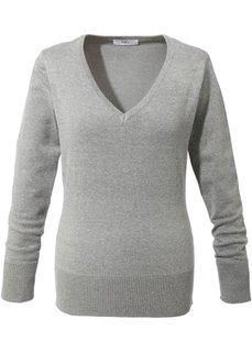 Пуловер тонкой вязки (светло-серый меланж) Bonprix