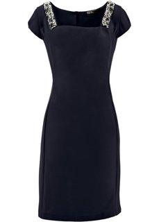 Платье-футляр ПРЕМИУМ со стразами (черный) Bonprix