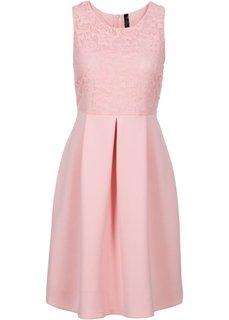 Платье из материала под неопрен (нежно-розовый) Bonprix