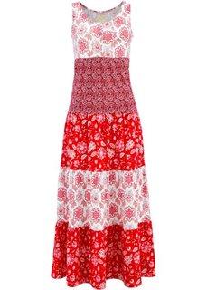 Трикотажное платье (клубничный с узором) Bonprix
