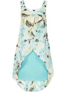 Платье (мятный пастельный с рисунком) Bonprix