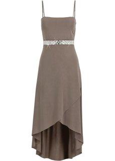 Трикотажное платье (серо-коричневый) Bonprix