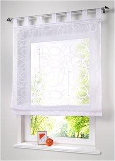 Римская штора Вивьен, петли (белый) Bonprix