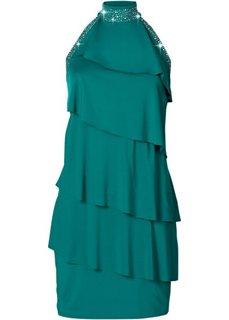 Короткое трикотажное платье (темно-изумрудный) Bonprix