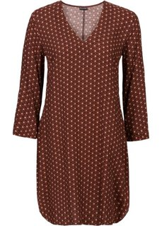 Платье (коричневый с рисунком) Bonprix