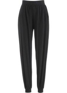 Трикотажные брюки-шаровары (черный) Bonprix