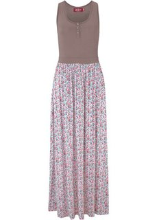 Трикотажное макси-платье (серо-коричневый) Bonprix