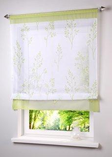 Римская штора Алина, кулиска (белый/зеленый) Bonprix