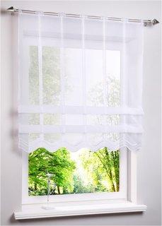 Римская штора Николь, прорезные петли (белый) Bonprix