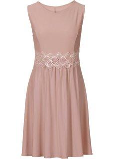 Платье с кружевной вставкой (розовое дерево) Bonprix