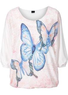 Трикотажная блузка (цвет белой шерсти с рисунком.) Bonprix