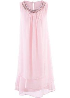 Платье с аппликацией (нежно-розовый) Bonprix
