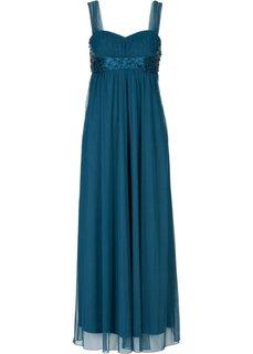 Макси-платье (серо-синий) Bonprix