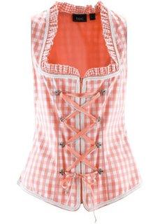 Корсет в традиционном стиле на молнии (лососево-розовый в клетку) Bonprix
