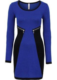 Вязаное платье (темно-синий/черный) Bonprix