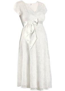 Праздничная мода для беременных: свадебное платье (цвет белой шерсти) Bonprix
