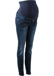 Узкие джинсы для беременных (темно-синий) Bonprix