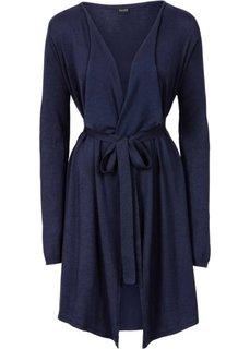 Вязаное пальто (темно-синий) Bonprix