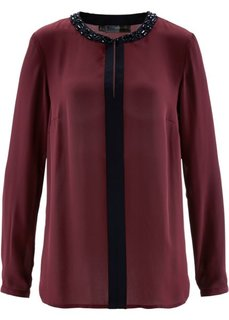 Блузка (темно-бордовый/черный) Bonprix