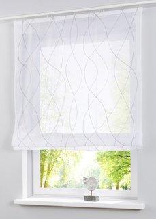 Римская штора Джетте, Шина с лентой велкро (белый/серый) Bonprix