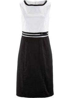Платье-футляр (черный/белый) Bonprix