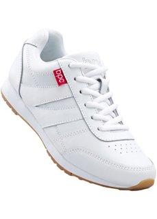 Кожаные кроссовки (белый) Bonprix