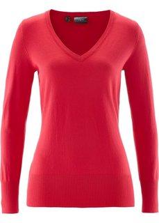 Пуловер тонкой вязки (красный) Bonprix