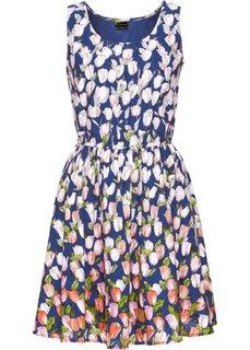 Платье (синий с рисунком) Bonprix