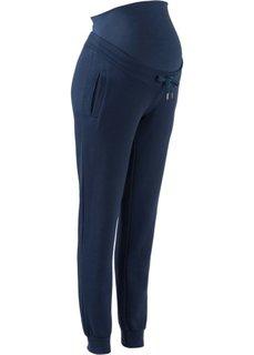 Для будущих и кормящих мам: трикотажные брюки для фитнеса (темно-синий) Bonprix
