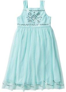 Тюлевое платье с пайетками (мятный пастельный) Bonprix