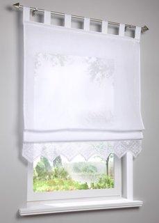 Римская штора Дора, петли (белый) Bonprix