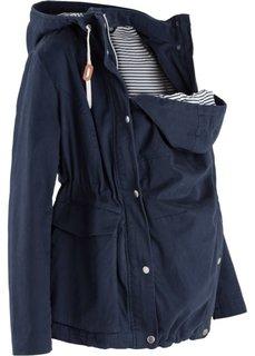 cc8acd29a7831d2 Легкая куртка для беременных со вкладкой для малыша (темно-синий) Bonprix