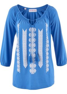 Трикотажная туника дизайна Maite Kelly (голубой/белый с принтом) Bonprix