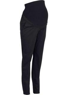 Для будущих мам: брюки-чиносы (черный) Bonprix