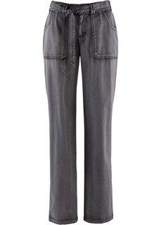 Эластичные брюки-карго (шиферно-серый) Bonprix