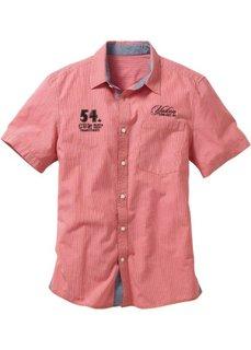 9bd5e376c41 Рубашка Regular Fit с короткими рукавами (коралловый в клетку) Bonprix
