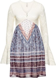 Платье (лиловый/бежевый) Bonprix